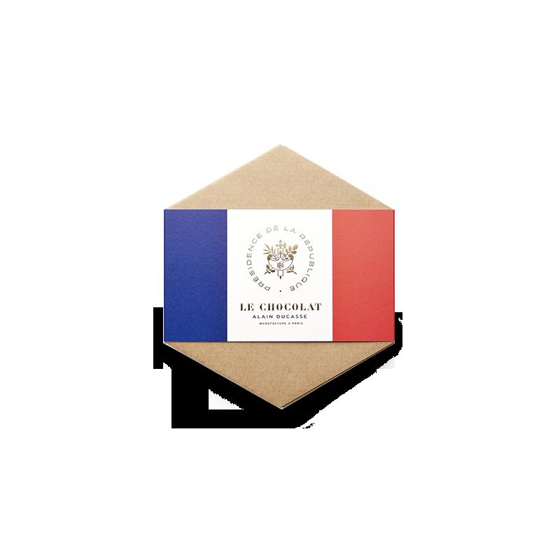 L'Hexagone Français chocolat noir mendiant