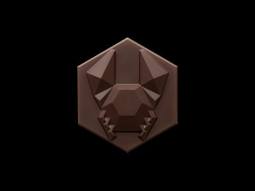 Crabe rocher - Noir - Chocolat de Pâques