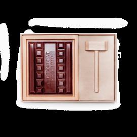 Le bloc de chocolat au lait à casser