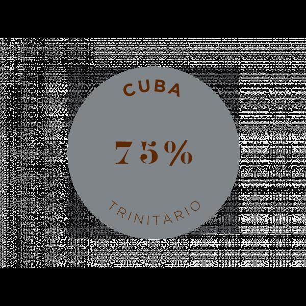 Tablette de chocolat noir Cuba 75% cacao