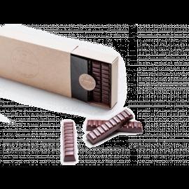 Barres de chocolat noir praliné