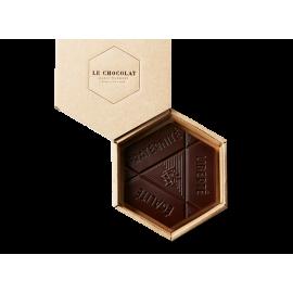 L'Hexagone Français chocolat noir praliné